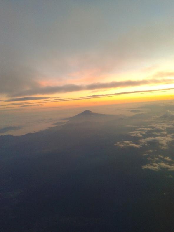 El Monte Fuji désde el avión